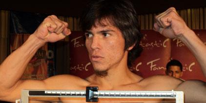 Pesos oficiales para función de boxeo en David