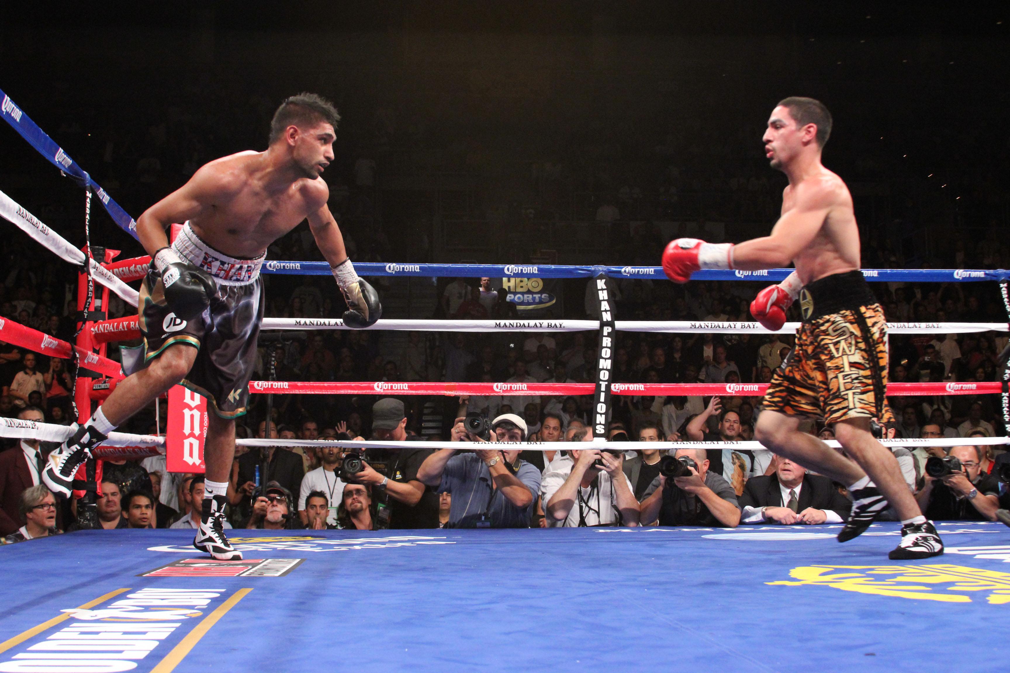 Danny García fulmina a Amir Khan en 4 asaltos