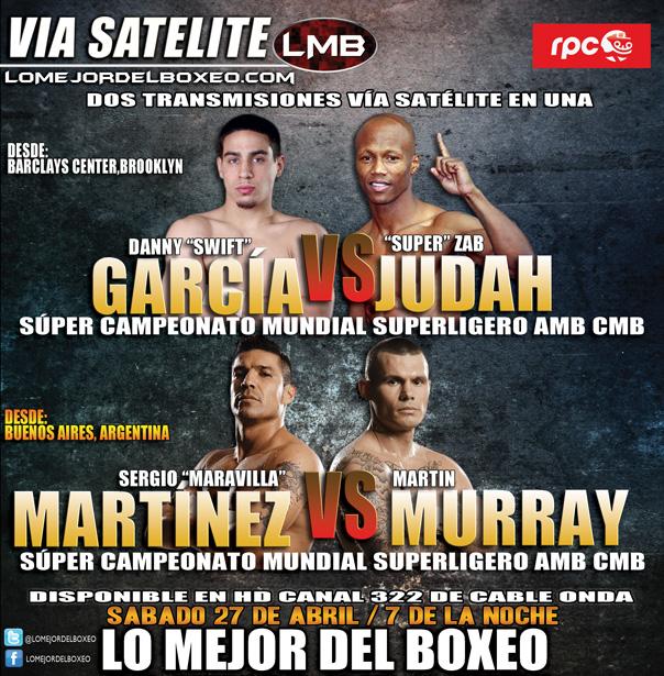Hoy Lo Mejor del Boxeo desde las 7pm: García v Judah y Maravilla v Murray