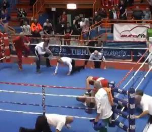 Boxeador ataca referí luego de combate