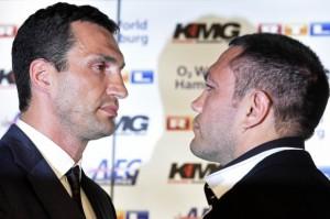 Ukrainian-heavyweight-boxing-world-champion-Klitschko-and-his-challenger-Bulgarian-Pulev-pose-in-Hamburg
