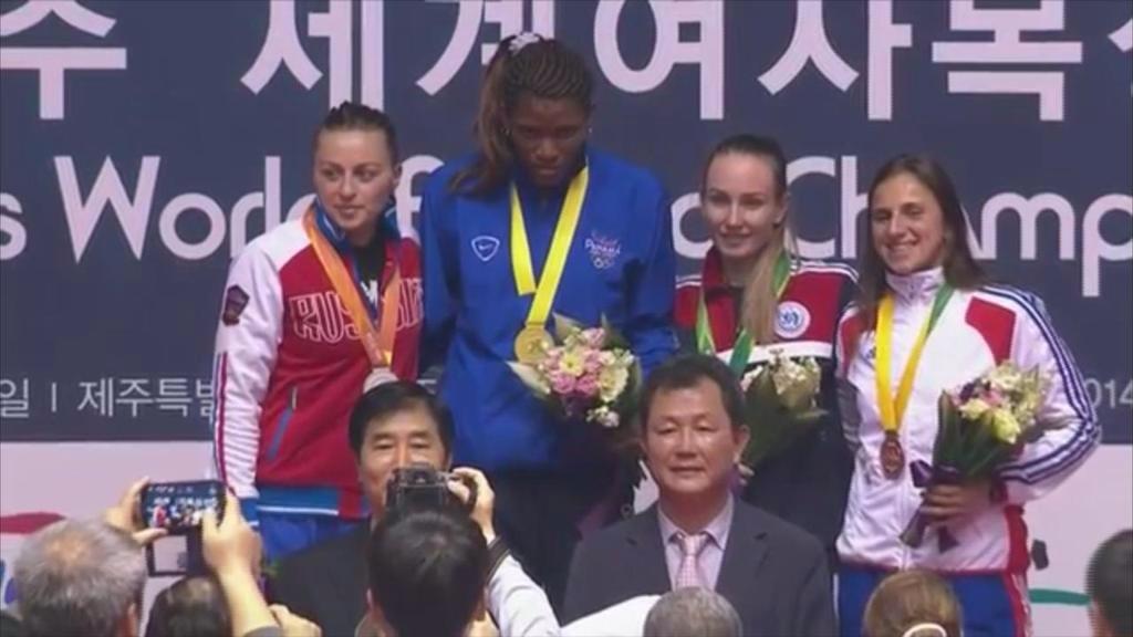 Panameña Atheyna Bylon se lleva el oro en el mundial