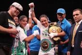 Jackie Nava noqueó y retuvo sus títulos en México
