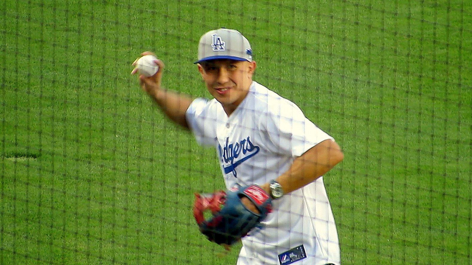 Golovkin visita a los Dodgers en Los Ángeles