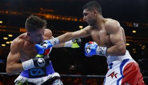Boxing - Amir Khan v Chris Algieri - Barclays Center, Brooklyn, New York City, United States of America - 29/5/15  Amir Khan in action against Chris Algieri  Action Images via Reuters / Andrew Couldridge  Livepic   ORG XMIT: UKVNeR