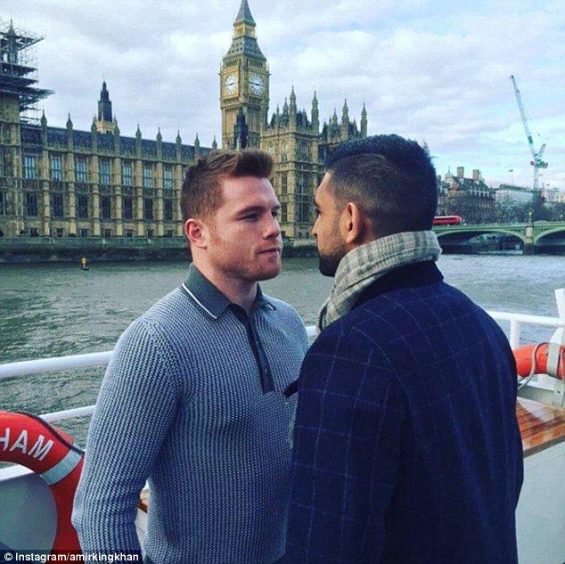 Se presentan 'Canelo' Álvarez y Amir Khan en Londres