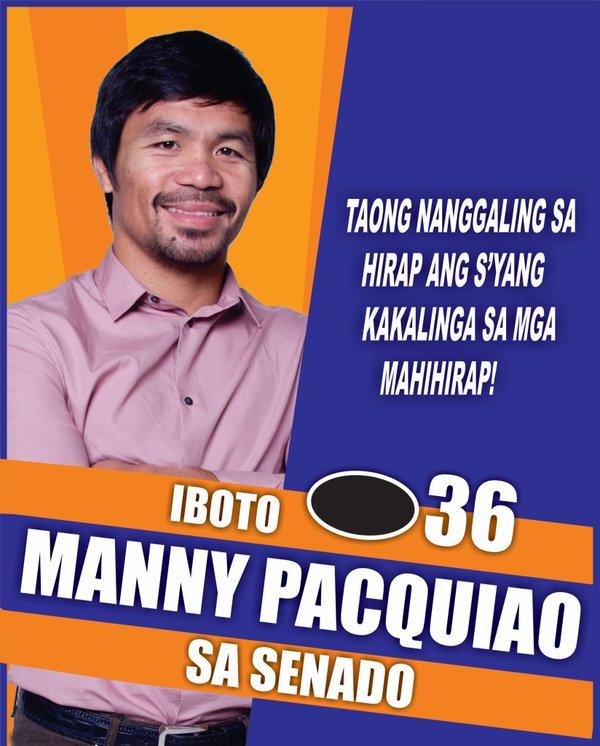 Manny Pacquiao, de boxeador a candidato