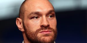 BOLTON, ENGLAND - NOVEMBER 30: Tyson Fury speaks at a press conference at the Macron Stadium on November 30, 2015 in Bolton, England. (Photo by Chris Brunskill/Getty Images)