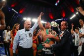 Golovkin retiene coronas en difícil combate ante Jacobs