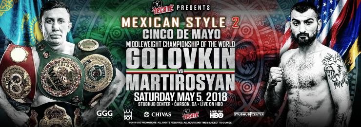 Se confirma la pelea Golovkin-Martirosyan para el 5 de mayo