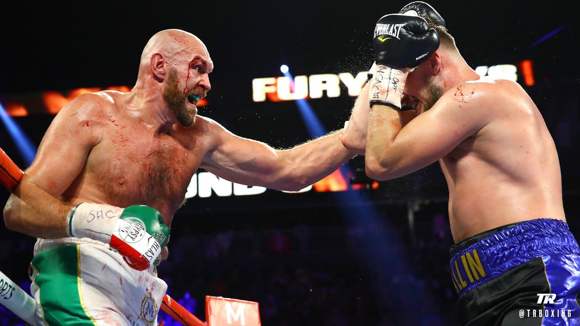 Tyson Fury vence a Otto Wallin en dramático y emocionante combate