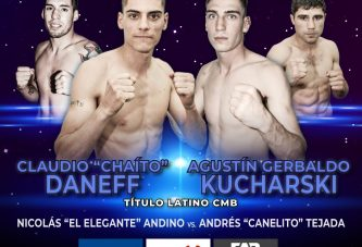 Daneff defiende título latino CMB ante Kucharski