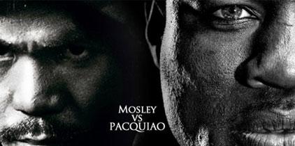 Pacquiao y Mosley prometen batalla