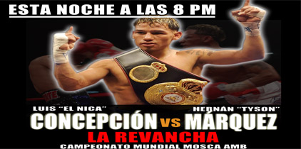 Hoy 8pm por Lo Mejor del Boxeo: Tyson Márquez vs. El Nica Concepción