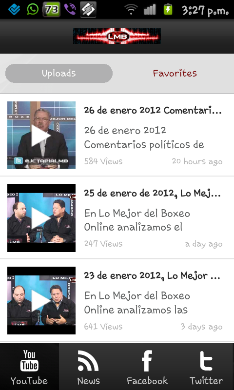 Nueva app de LMB para Android, Windows Phone y tu navegador