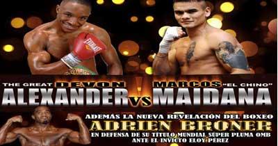 Maidana, Alexander, Broner y Pérez hoy por Lo Mejor del Boxeo