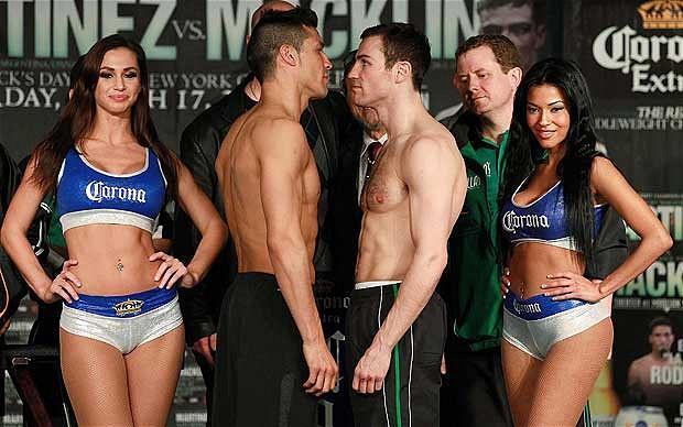 Martínez y Macklin en peso para esta noche