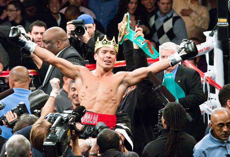 Sergio «Maravilla» Martínez en acción esta noche por Lo Mejor del Boxeo