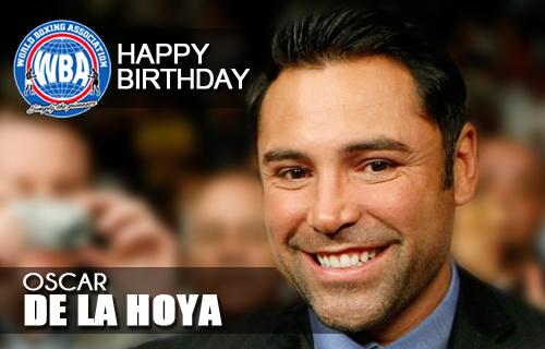 Felicidades a Oscar de la Hoya