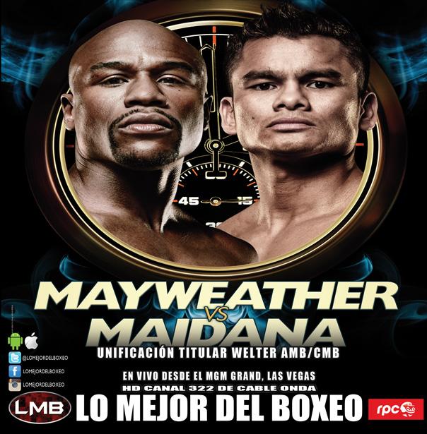 En el día previo de la pelea, Mayweather y Maidana se suben a la balanza en Las Vegas