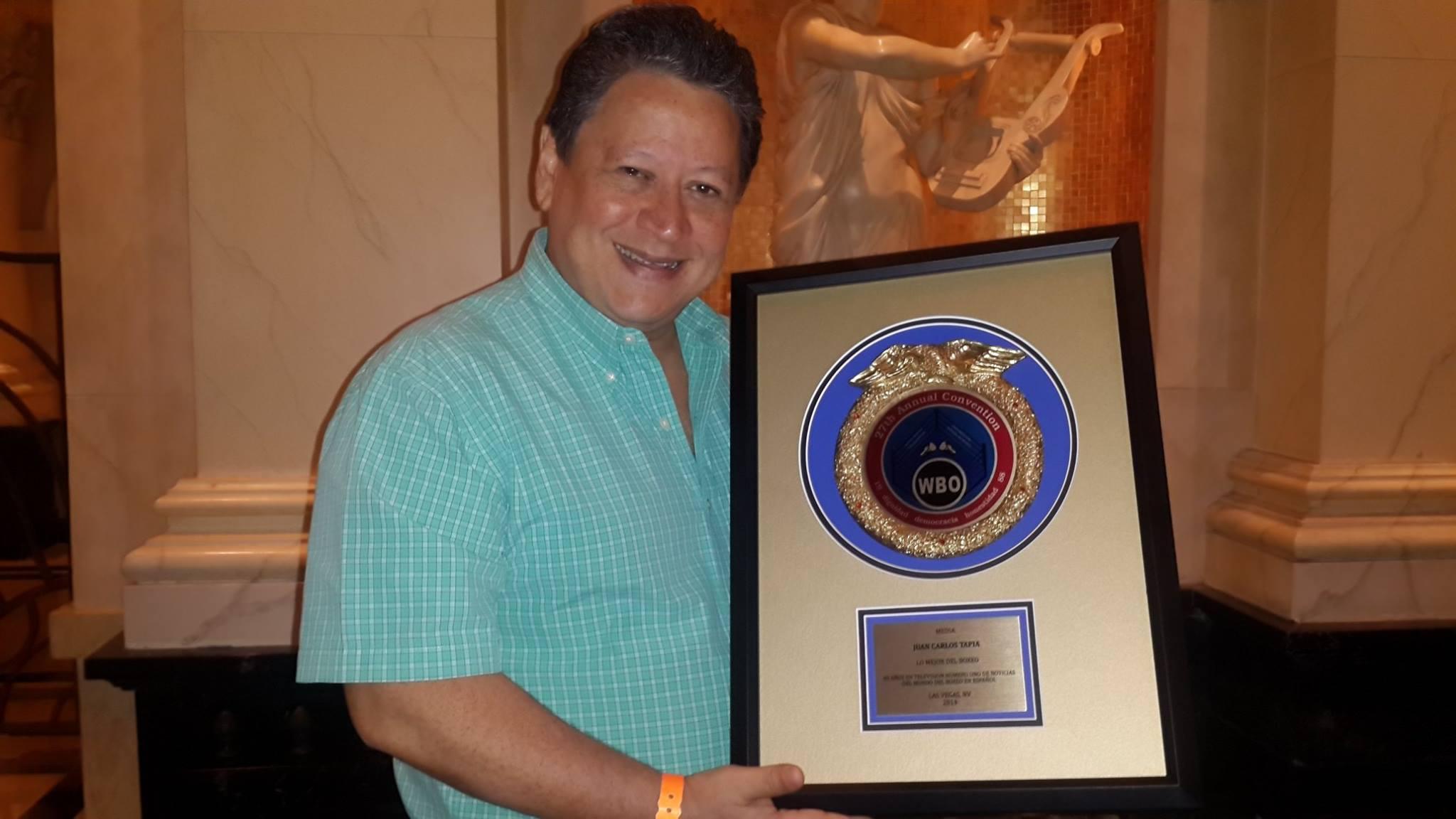 La OMB distingue a Juan Carlos Tapia