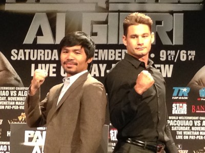 Pacquiao vs Algieri desde Macao, China