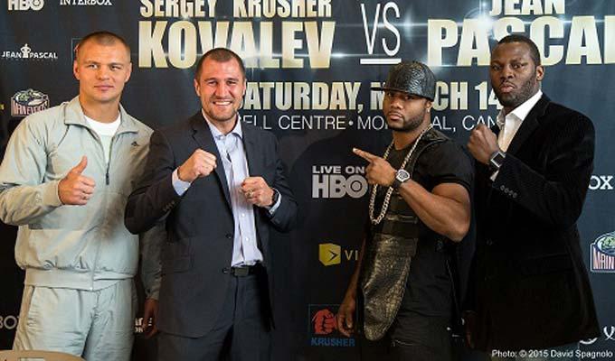 Kovalev y Pascal hacen el peso para pelea del sábado en Montreal
