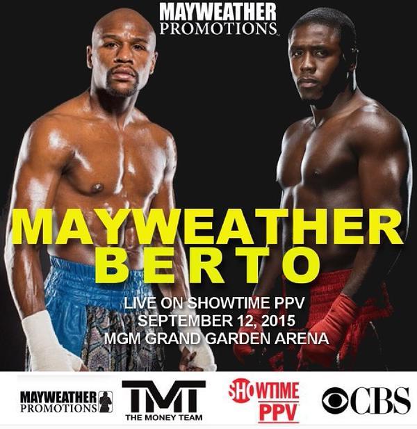 ¡Confirmado! Andre Berto es el rival de Floyd Mayweather para el 12 de septiembre