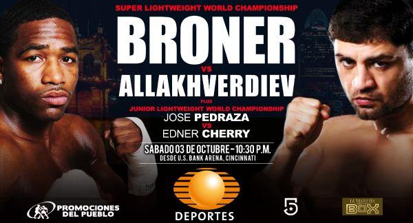 Nombrados oficiales para Broner vs. Allakhverdiev