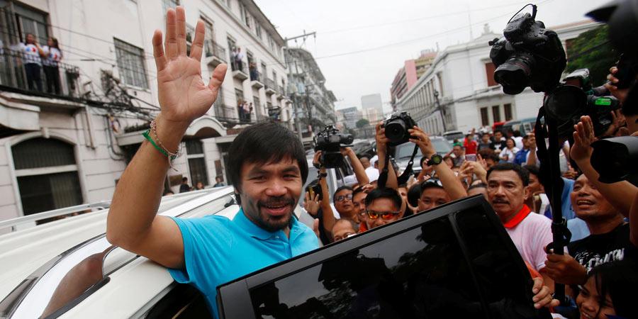 Manny Pacquiao presenta candidatura al Senado de Filipinas