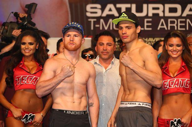 Canelo y Chávez Jr. superaron la báscula; pesaron 164 libras