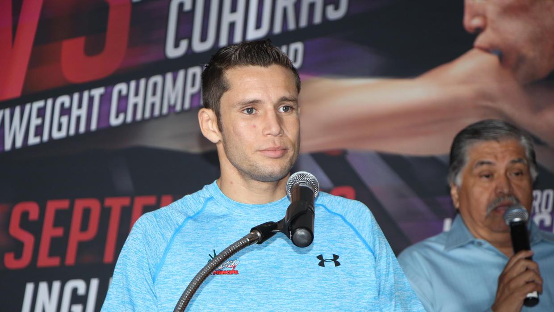 Carlos Cuadras en plena preparación para enfrentar al «Gallo»