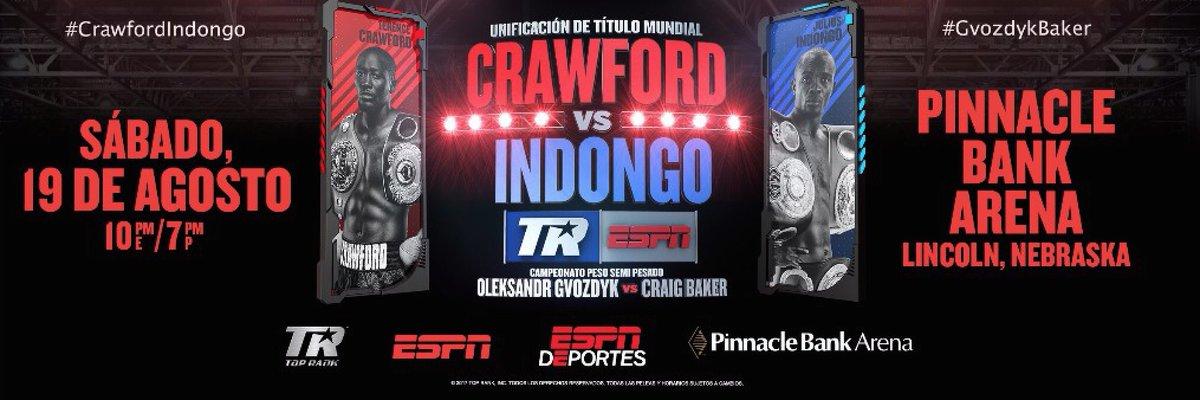 Histórica expectativa para Terence Crawford vs Julius Indongo