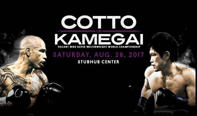 Reaparece Miguel Cotto luego de dos años ausente para enfrentar al valiente japonés Yoshihiro Kamegai