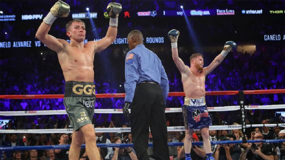 Anuncian revancha entre Golovkin y Álvarez para el 5 de mayo