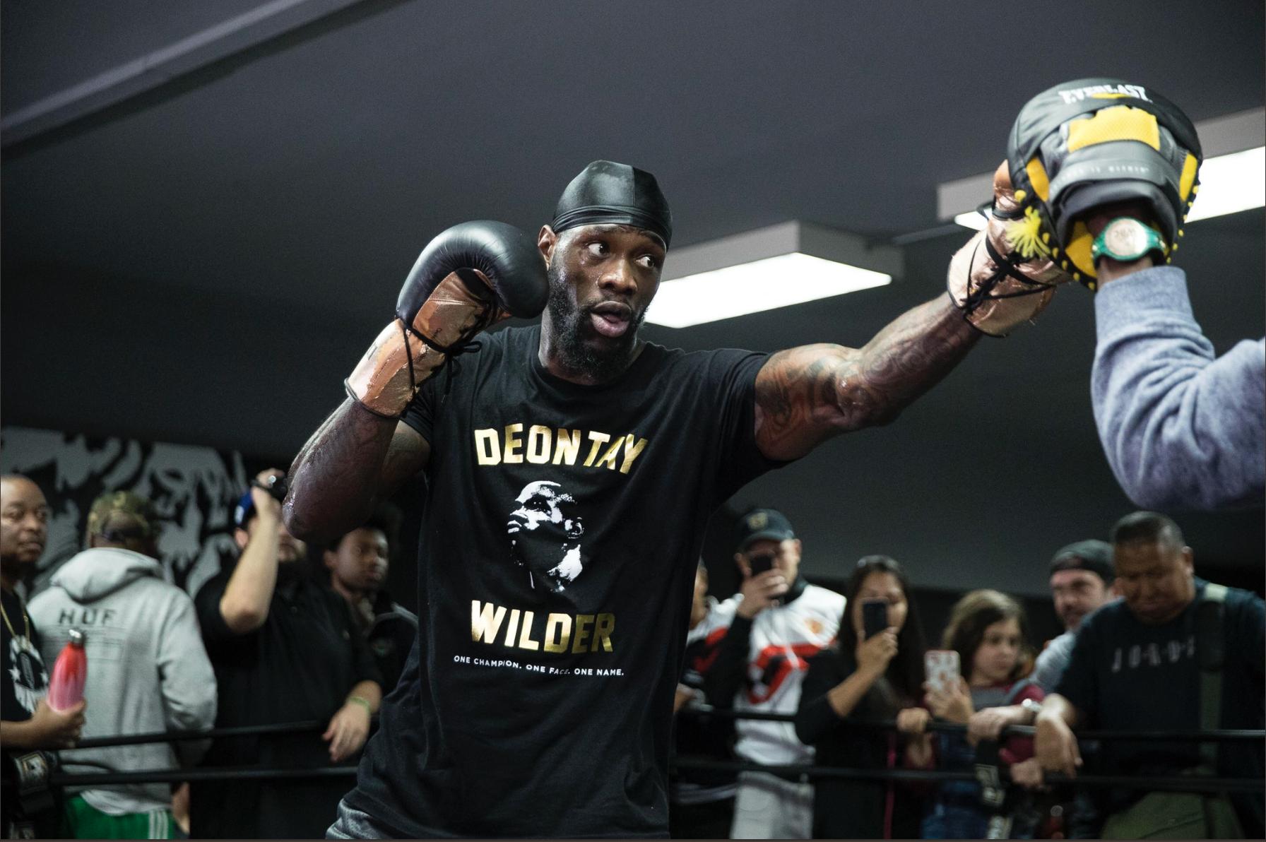 Wilder tuvo su Día de Medios para combate con Ortiz