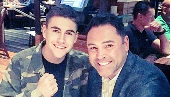 Hijo de Óscar de la Hoya anuncia que será boxeador profesional