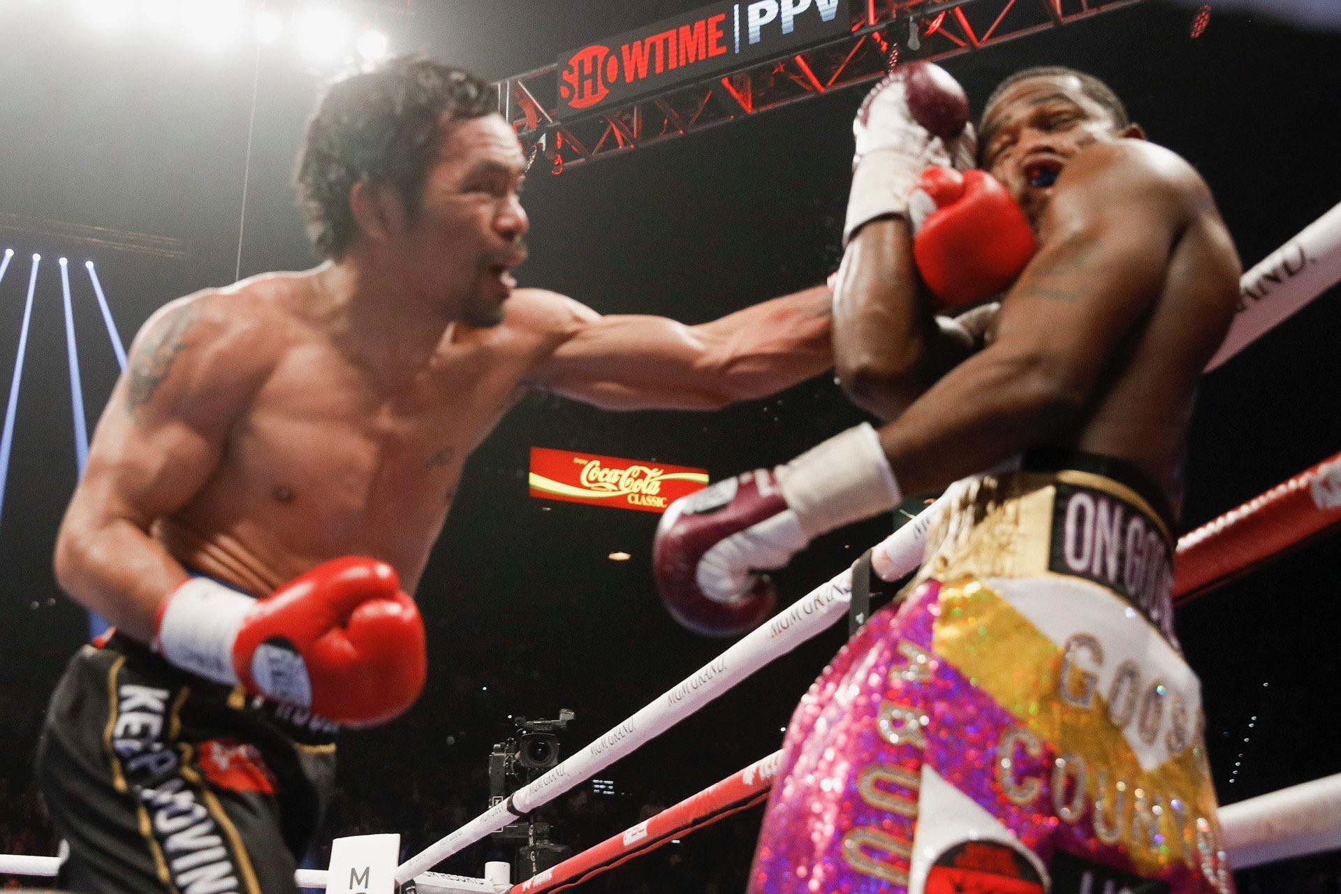 Pacquiao, a sus 40 años, da una lección de boxeo a Broner