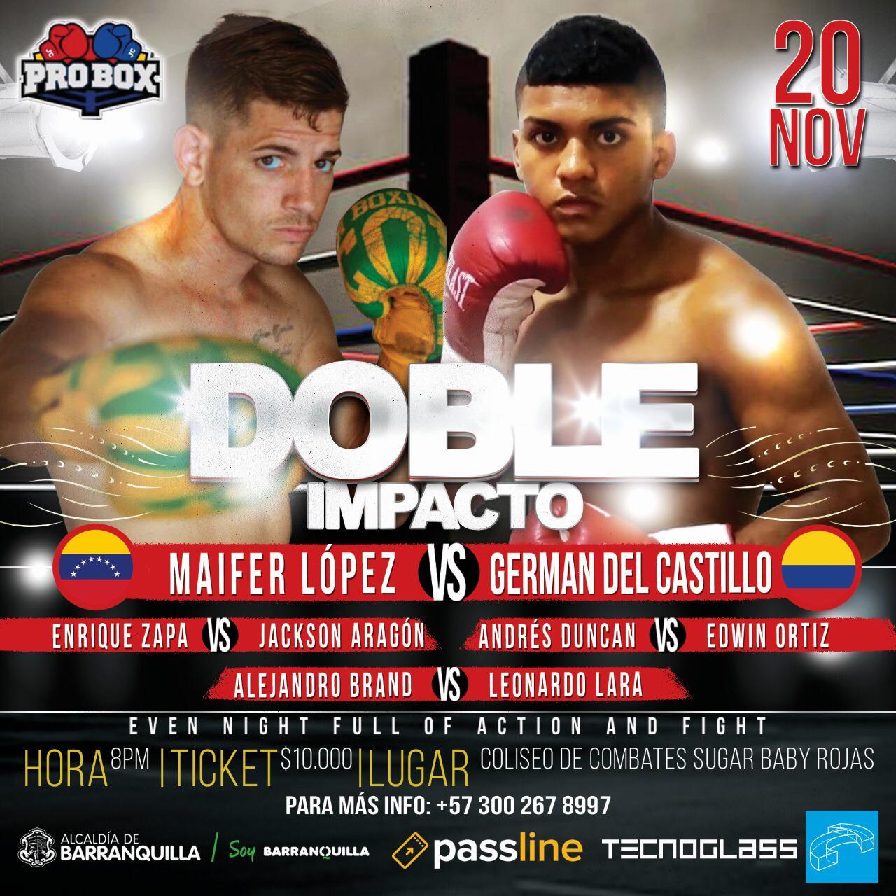 El boxeo ruge hoy en Barraquilla