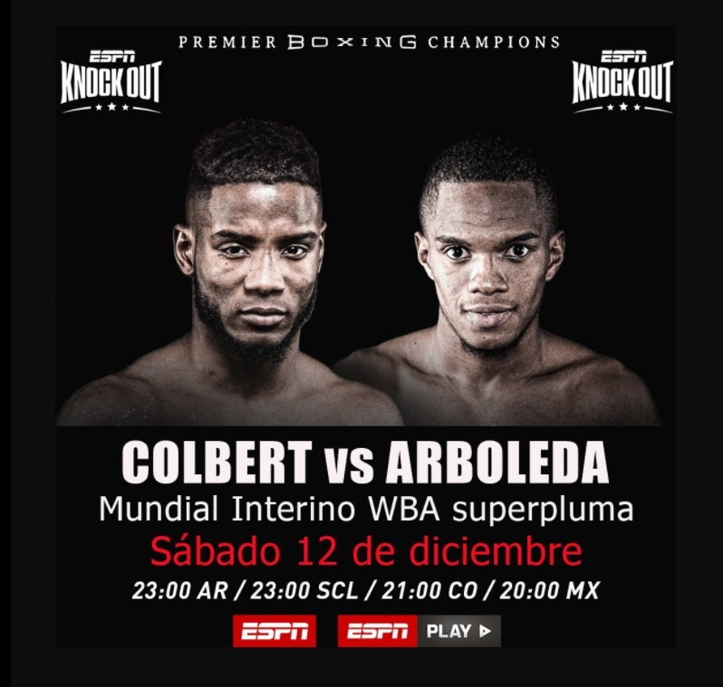 Designados los oficiales para la pelea de Colbert vs Arboleda
