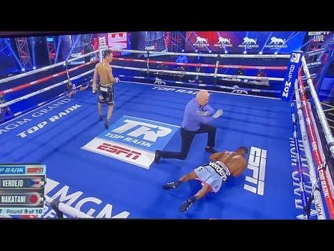 Nakatani supera dos caídas y noquea a Félix Verdejo en el noveno asalto