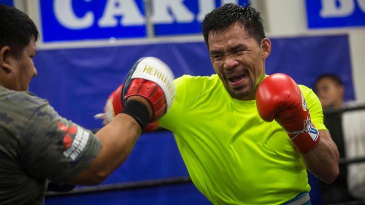 Pacquiao vuelve a entrenar para próxima pelea