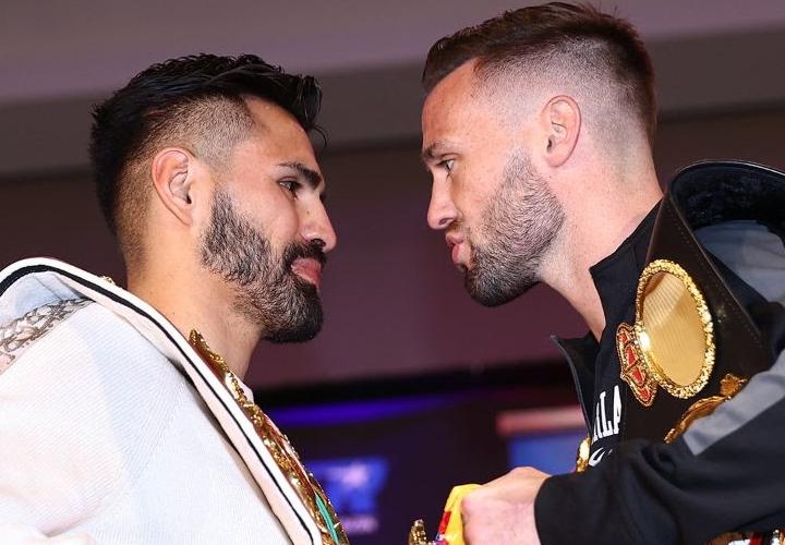 Resultados del pesaje de Jose Ramirez-Josh Taylor en Las Vegas