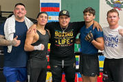 El Canelo Team se une: Canelo Álvarez, Andy Ruiz, Óscar Valdez y Ryan García entrenan para el cierre de año